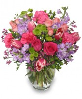 POETIC HEART BOUQUET Floral Arrangement in Mount Pleasant, SC | BELVA'S FLOWER SHOP