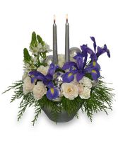 FROSTY TWILIGHT Floral Arrangement in Brookfield, CT | WHISCONIER FLORIST & FINE GIFTS
