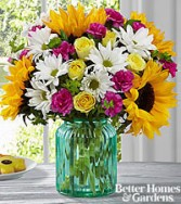 FTD Sunlit Meadows Bouquet by Better Homes and Gar Vased Fresh Flowers
