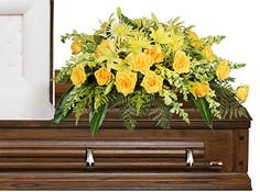 FULL SUN MEMORIAL Funeral Flowers in Campbell, CA | ROSIES & POSIES