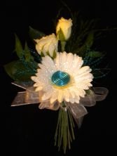 Fun Hand-Tied Corsage! Gerb, Rose and Wire Creation in a Hand-Tied Presentation