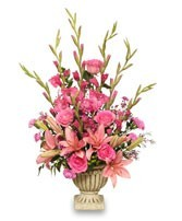 FA 4-Funeral basket of mixed flowers Flowers and colors may vary