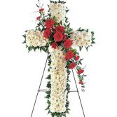 FUNERAL CROSS in Edison, NJ | E&E FLOWERS AND GIFTS