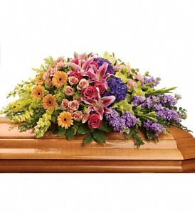 Garden of Sweet Memories Casket Spray in Eau Claire, WI | 4 SEASONS FLORIST INC.