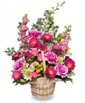 FRIENDSHIP BLOOMS Basket of Flowers in Prospect, CT | MARGOT'S FLOWERS & GIFTS