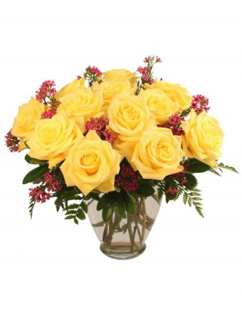 Gold Strike Roses Arrangement