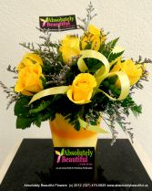 Golden Rays of Spring Stunning Yellow Roses