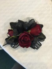 Gothic Red Corsage
