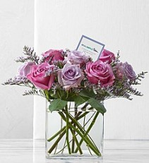 Graceful Lavender Rose Bouquet by Real Simple   Modern Dozen In  6