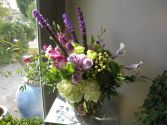 Green and Purple Queen Floral Arrangement in Houston, TX | AJ'S URBAN PETALS