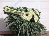 Guitar casket spray Custom floral tribute