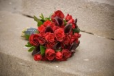 Handtied Red Rose & Cala Bouquet Bridal Bouquet