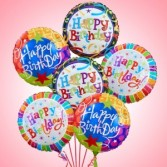 Half Dozen Happy Birthday  Balloon Bouquet