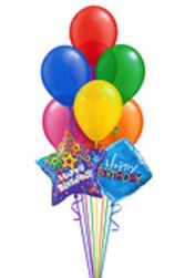 HAPPY BIRTHDAY BOUQUET 8-Balloon Helium Bouquet in East Hampton, CT | ESPECIALLY FOR YOU