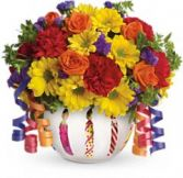 Happy Birthday Bowl in Largo, FL | ROSE GARDEN FLOWERS & GIFTS INC.
