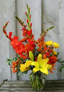 Happy Fall  Bright and Cheerful Fall Arrangement