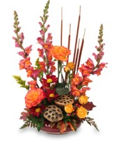 HARVEST MOON Fall Flowers in Bowerston, OH | LADY OF THE LAKE FLORAL & GIFTS