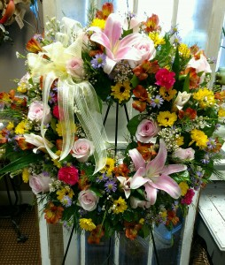Heartfelt Sympathy Funeral Wreath in Chattanooga, TN | Chantilly Lace Floral Boutique LLC