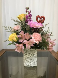 Hearts and Lace Bouquet Colors will vary - Mixed Spring in Berwick, LA | TOWN & COUNTRY FLORIST & GIFTS, INC.