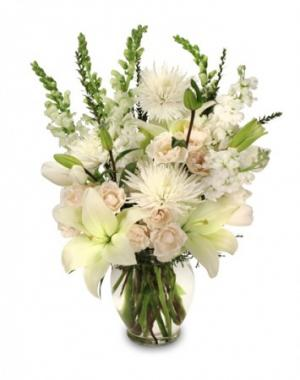 Heavenly Aura Flower Arrangement in Belleville, KS | CROSSROADS FLORAL AND ANTIQUE VILLA