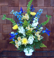 Heavenly garden one sided urn
