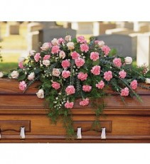 Heavenly Pink Casket Cover  TF199-2