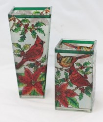 Holiday Amia Stained Glass Vase