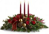 Holiday Centerpiece with Tapers