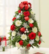 Holiday Flower Tree Christmas