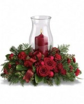 Holiday Glow  Centerpiece (T115-3A) in Fairbanks, AK | A BLOOMING ROSE FLORAL & GIFT
