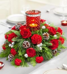 Holiday Lights Centerpiece Christmas Centerpiece in Phoenix, NY | BLUSHING ROSE BOUTIQUE