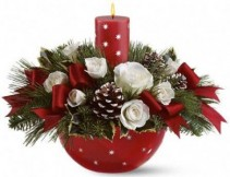 Holiday Star Bowl Bouquet