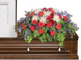 HONORABLE DEDICATION Casket Spray in Jonesboro, AR | HEATHER'S WAY FLOWERS & PLANTS