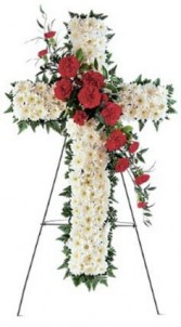 HOPE AND HONOR CROSS STANDING SPRAY in Clarksburg, MD | GENE'S FLORIST & GIFT BASKETS 