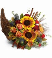 Horn of Plenty  Cornucopia in Largo, FL | ROSE GARDEN FLOWERS & GIFTS INC.