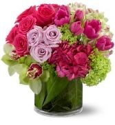 Hot Pink Paradise  Hand Crafted Fresh Arrangement