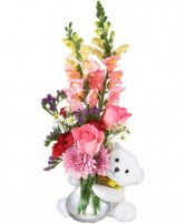 HUGGY BEAR ROSES in Edison, NJ | E&E FLOWERS AND GIFTS