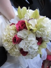 Hydrangea Orchid and Rose Bouquet Call for Estimate