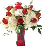 HYDRANGEA & ROSE BOUQUET in Rockville, MD | ROCKVILLE FLORIST & GIFT BASKETS