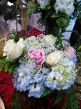 I love you,Hydrangea and pastel roses  Euro Design