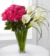 Irresistible Luxury Rose and Calla Bouquet Lavish Luxury Collection
