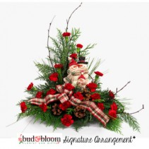 *SOLD OUT* Jolly Snowman Family  Bud & Bloom Signature Arrangement