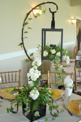 Lantern, Table Shepherd Hook, Ceramic Square Rentals in Mcfarland, WI | THE PETAL PATCH