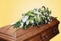 Large white Cross Casket Spray Casket Spray