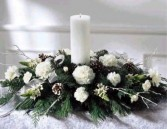 Let It Snow All White Centerpiece