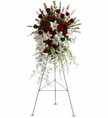 Lilies and Spray Roses Standing Spray