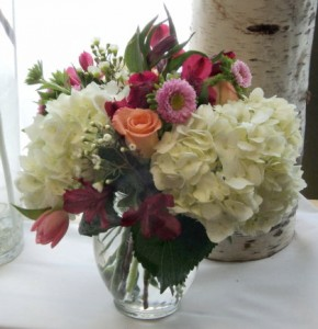 Lots of Love vase arrangement in North Adams, MA | MOUNT WILLIAMS GREENHOUSES INC