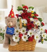 Lotsa Love Birthday Basket in Miami, FL | THE VILLAGE FLORIST