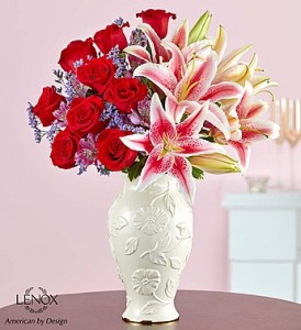 Love and Romance™ in Lenox® Fresh Arrangement in Vienna, WV | FOX'S FLORAL AND GIFTS