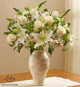 Loving Blooms™ Lenox® White Fresh Arrangement in Vienna, WV | FOX'S FLORAL AND GIFTS